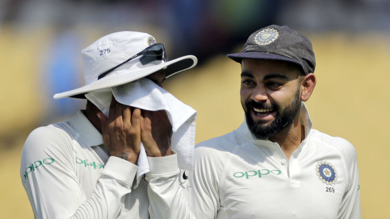 Indian captain Virat Kohli was all smiles after the win as the victory goes down in record books as India's biggest Test win.(Image: AP)