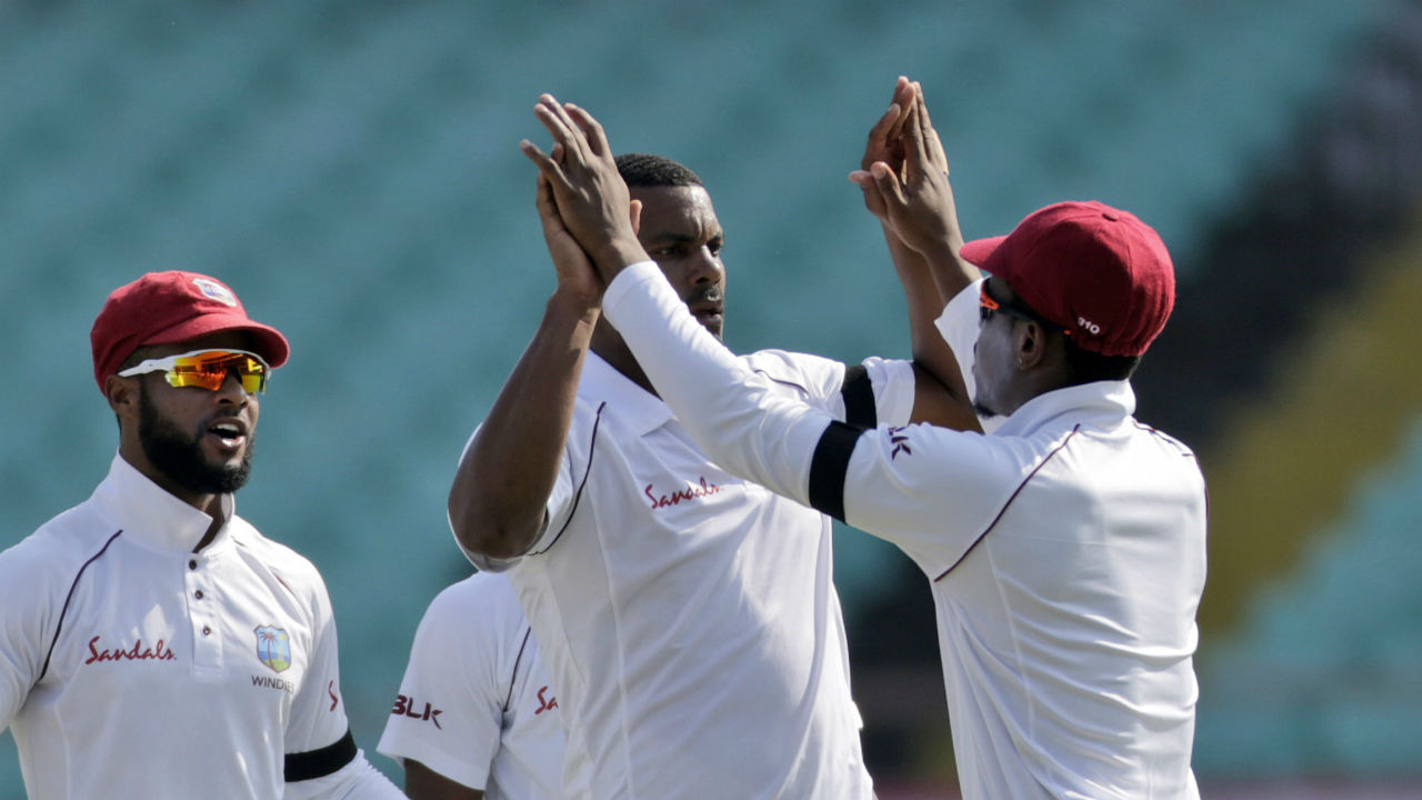 West Indies got off to a great start as fast bowler Shannon Gabriel trapped Rahul in front of the wickets in the first over of the match. Rahul went for the review but it proved futile, giving India a double whammy of losing a player and a review in the first over of the match. (Image: AP)