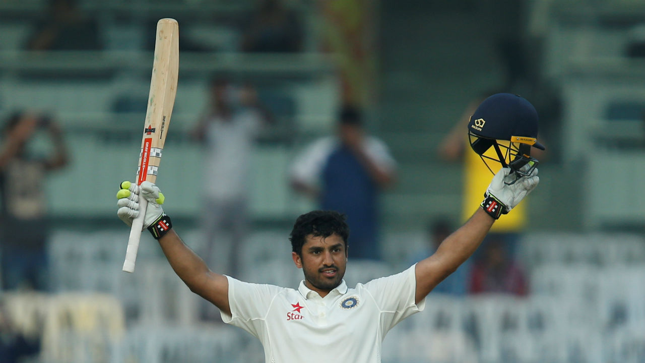 Least number of innings taken to hit a triple-ton -Karun Nair | Karun Nair registered his first triple-century playing against England. It was only his third innings in Test cricket. The innings made him the batsman to reach triple century in least number of innings. (Image: Reuters)