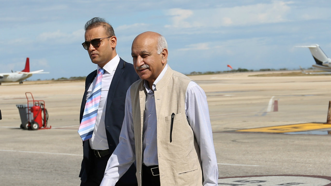 "MJ Akbar | The Minister of State for External Affairs and Rajya Sabha MP was accused of sexual harassment by several female colleagues. Akbar has denied the ""wild and baseless"" allegations and plans to take legal recourse against the women who accused him. (Image: Reuters)"