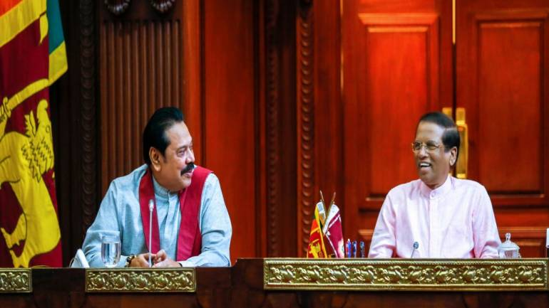 Image result for srilanka's political problem with rajapaksha and bikramaasinghe