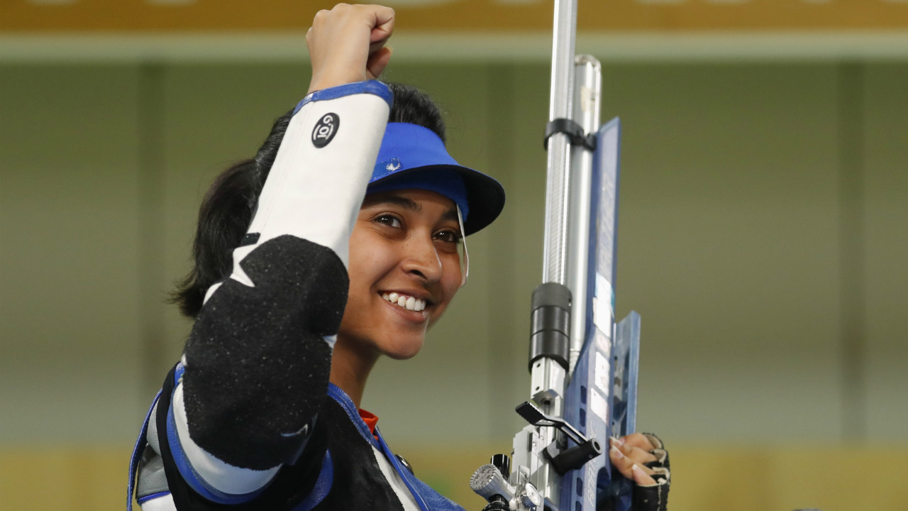 Mehuli Ghosh | Silver (10m Air Rifle) | Ghosh came within striking distance of winning gold before settling for silver in the women's 10m air-rifle shooting. The 18-year-old finished with a total of 248.0 behind Denmark's Grundsoee, who ended with a score of 248.7. (Image: Reuters)