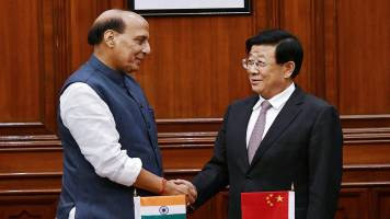 Rajnath Singh holds talks with his Chinese counterpart; Kiren Rijiju part of delegation