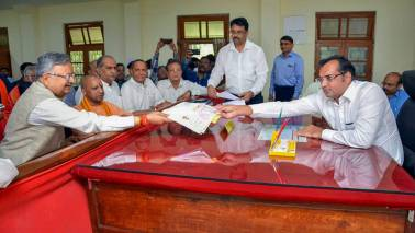 Raman Singh files nomination for Chhattisgarh Assembly polls