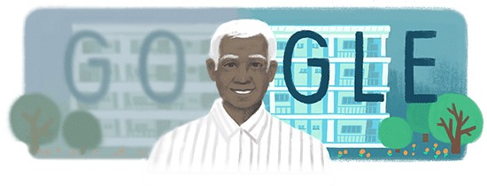 Q1. This Google doodle is dedicated to whom?