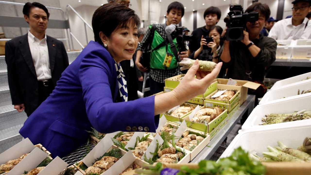 The new market is nearly twice the size of Tsukiji, which was already the world's largest, and boasts state-of-the-art refrigeration and storage, and has vegetable stalls, restaurants and other shops for visitors. (Image: Reuters)