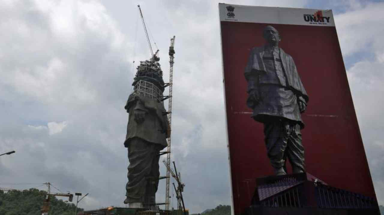 The statue costs Rs 2,389 crore and nearly 3,400 labourers and 250 engineers worked round the clock for 42 months to complete the project. No escalation of labour, fuel and material used was allowed to construct the statue. (Image: Reuters)