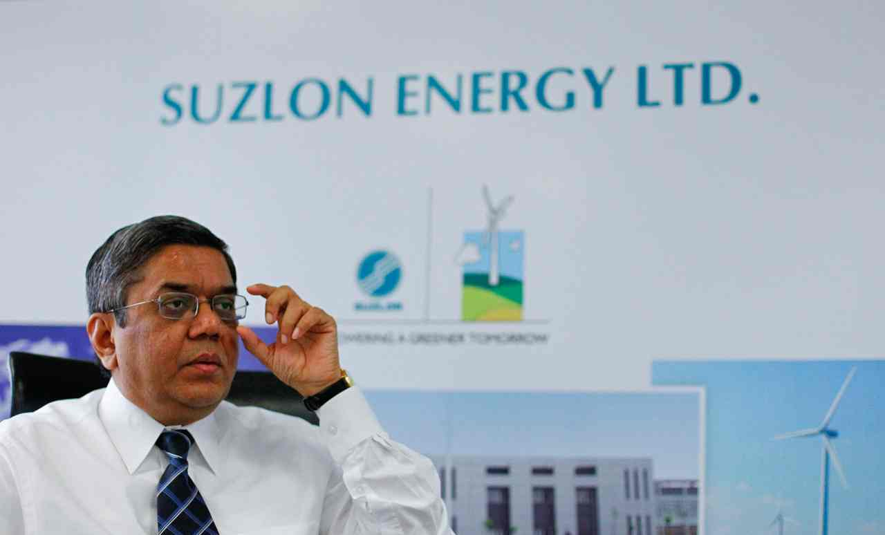 Suzlon Energy | Market capitalisation in December 2017: Rs 8,267 crore | Current market capitalisation: Rs 3,298 crore | Current stock price: Rs 6.2 | YTD return: -60.10% (Image: Reuters)