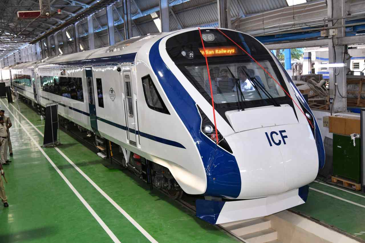 The latest offering of the ICF was built in 18 months under the Make in India initiative at a cost of Rs 100 crore. Train 18 will undergo a three- to four-day trial period after which it will be handed over to Research Design and Standards Organisation (RDSO) for further checks. (Image: PTI)