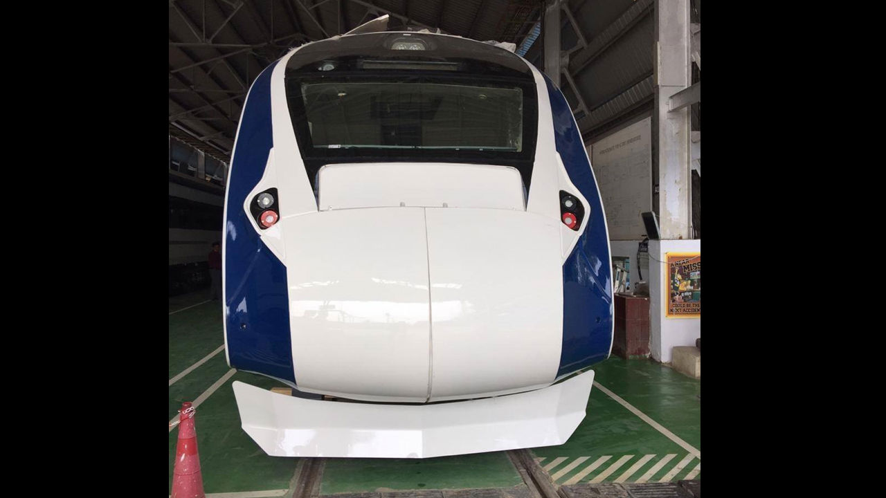 It is fully air-conditioned and is driven by self-propulsion. The train features two executive compartments with 52 seats each and the trailer coaches have 78 seats. All the seats rotate 360 degrees. (Image: ICF)