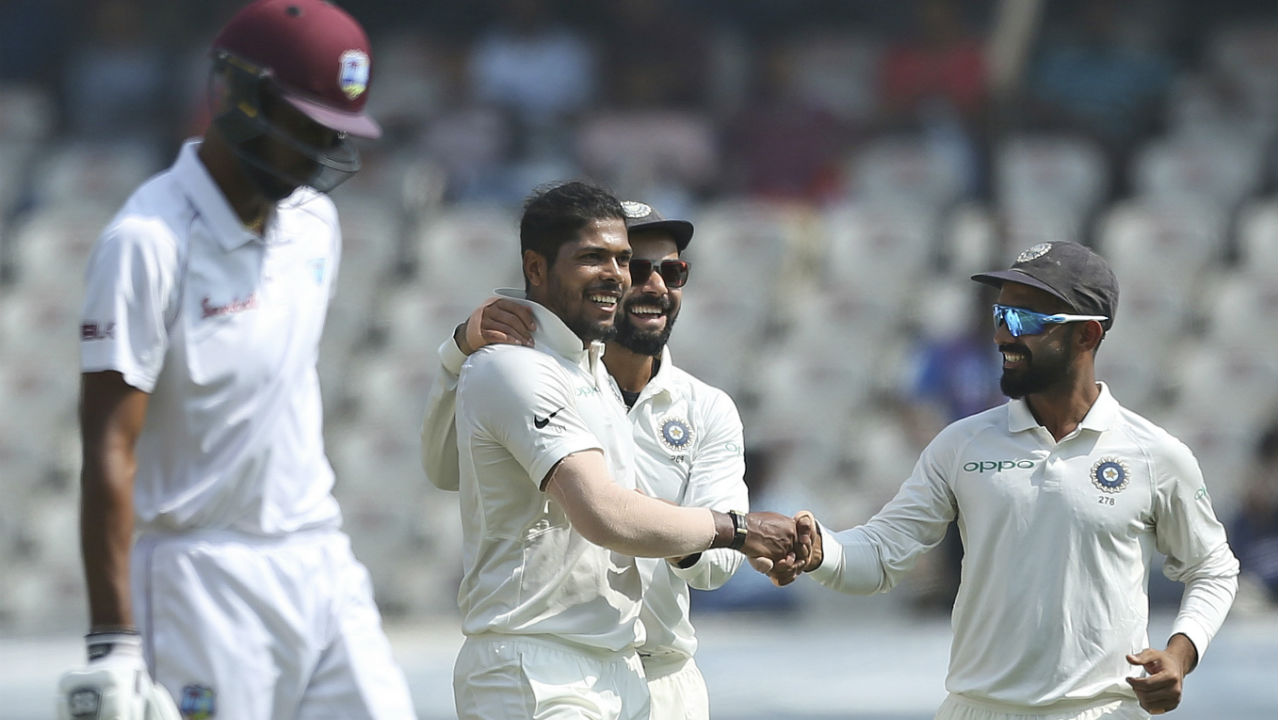 India vs West Indies second Test scoreboard