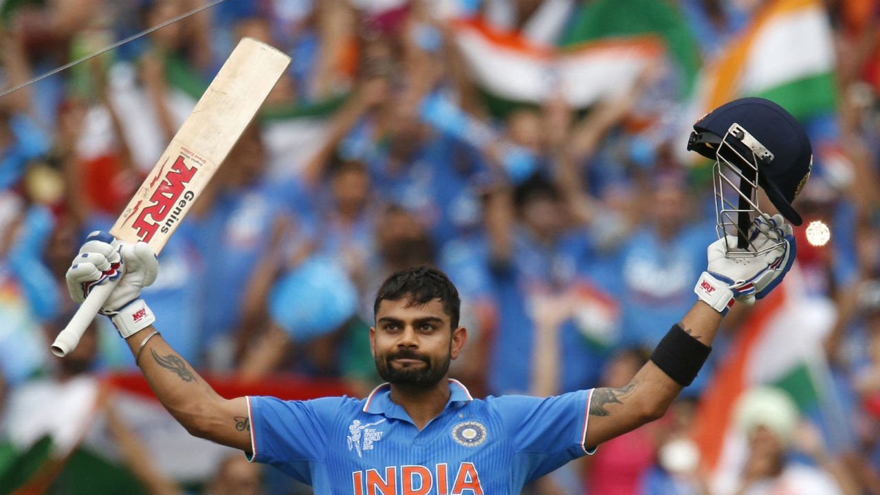 Kohli has the most number of centuries while chasing. He has scored 22 ODI centuries while Sachin Tendulkar stands second with 17. (Image: Reuters)