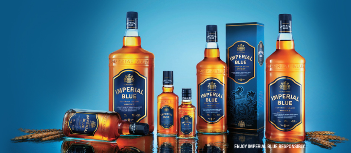 7. Imperial Blue | Sales volume: 19.0 million | Type of alcohol: Whisky | Country of origin: India | Average alcohol content: 42.8% (Image: Pernod Ricard)
