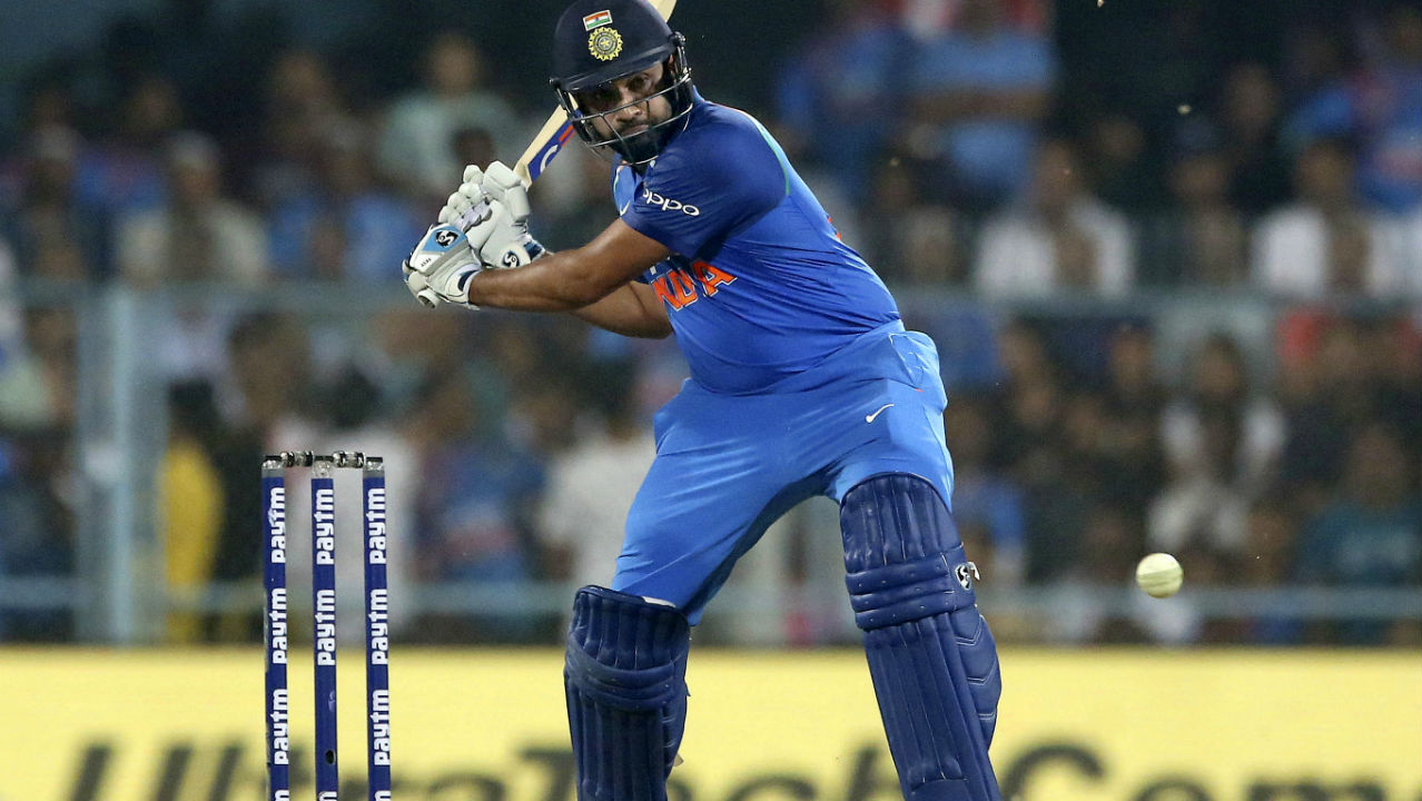 With Kohli back in the dressing room, Indian vice-captain Rohit Sharma then took on the mantle of attacker. He stitched together an unbeaten 70 run partnership with Ambati Rayudu to take India to victory. Rohit ended the run-chase with a six which also took his total up to an unbeaten 152 off 117 deliveries. India now have a 1-0 lead in the five match ODI series. (Image: AP)