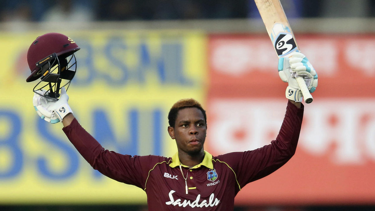 Shimron Hetmyer was brilliant with the bat as he stitched together a 60-run partnership with skipper Jason Holder. He brought up his 3rd ODI Century off just 74 deliveries in the 38th over but was dismissed by Jadeja in the very next over when he holed out to Pant in the deep. (Image: AP)