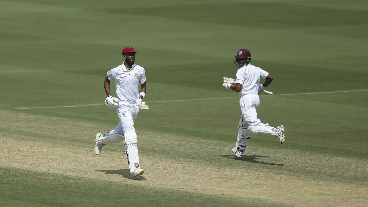 Shane Dowrich and Roston Chase stitched together the first Windies partnership in the innings which went past 100 deliveries. Together the batmen put on 69 runs from 124 deliveries for the sixth wicket. (Image: AP)