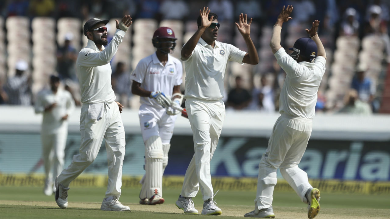 R Ashwin (India) | Ashwin had a quiet series by his lofty standards as he failed to breach double digit mark in wickets. The off-spinner's best performance with the ball came in the Windies first innings of the first Test where he clipped 4 wickets. The veteran though, played the role support cast to young Kuldeep Yadav. Series Stats | Matches: 2 | Innings: 4| Overs: 63.2| Wickets: 9| BBI: 4/37| BBM: 6/108 | Average: 20.11 (Image: AP)