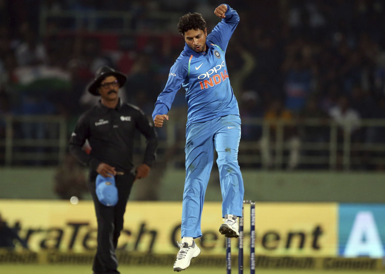Kuldeep Yadav (India) | Kuldeep Yadav had a superb series with the ball, finishing as the series' leading wicket taker. The Windies batsmen found it difficult to read Yadav's googlies and more often than not ended up losing their wicket to the Chinaman. Series Stats | Matches: 4 | Overs: 33.2 | Wickets: 9| BBI: 3/42 | Average: 19.88 | Econ: 5.37 (Image: AP)