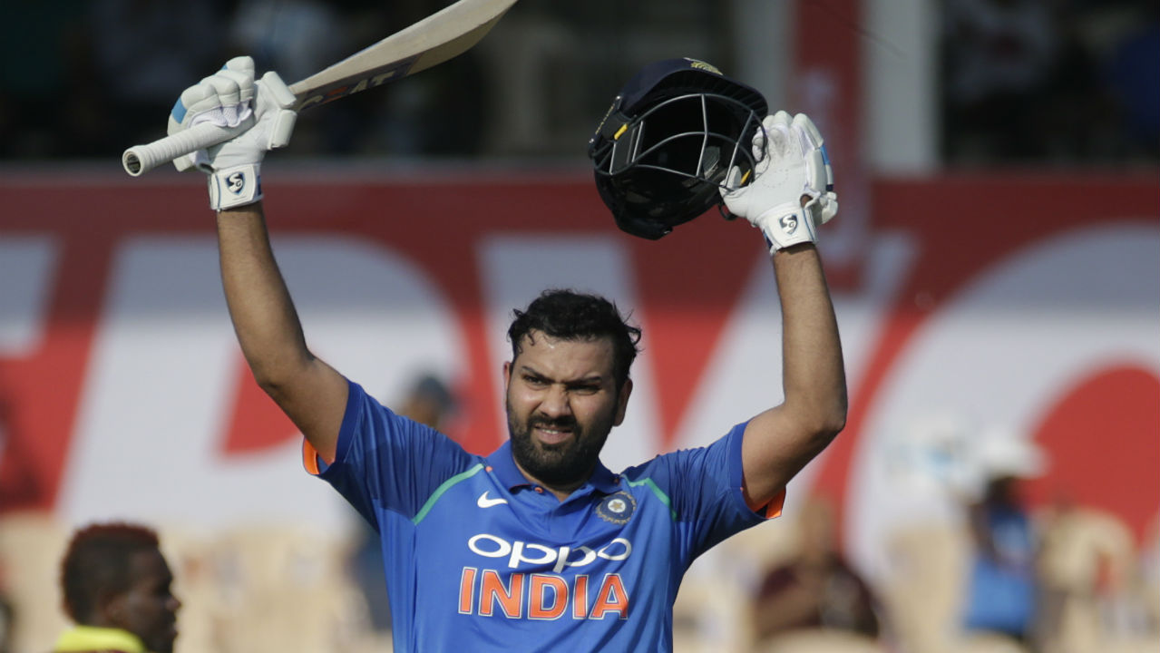 Rohit Sharma completed his 21st ODI century in the 43rd over to set up the stage nicely for the slog overs. (Image: AP)