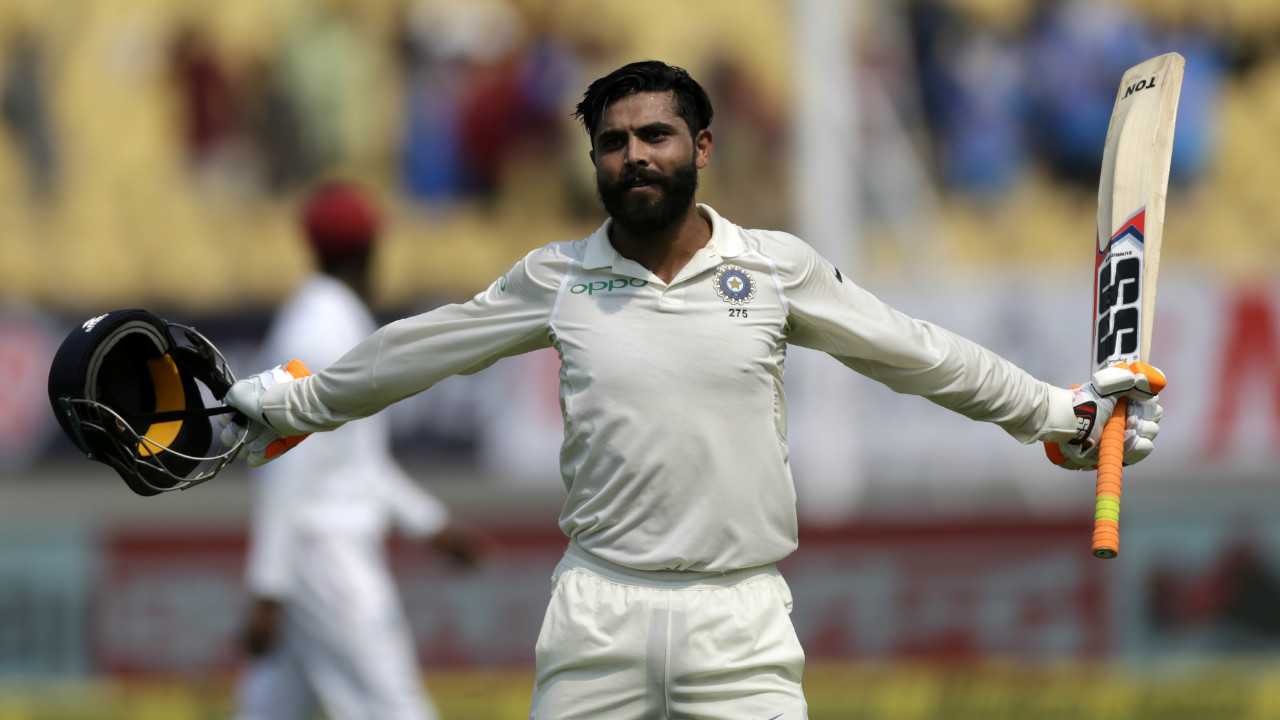 Ravindra Jadeja became the third batsmen after Prithvi Shaw and Virat Kohli to post hundred in the innings. Soon after Jadeja completed his century, Virat Kohli declared the Indian innings. Thanks to the efforts of the batsmen India was able to post a mammoth score of 649/9 in the first innings. (Image: AP)