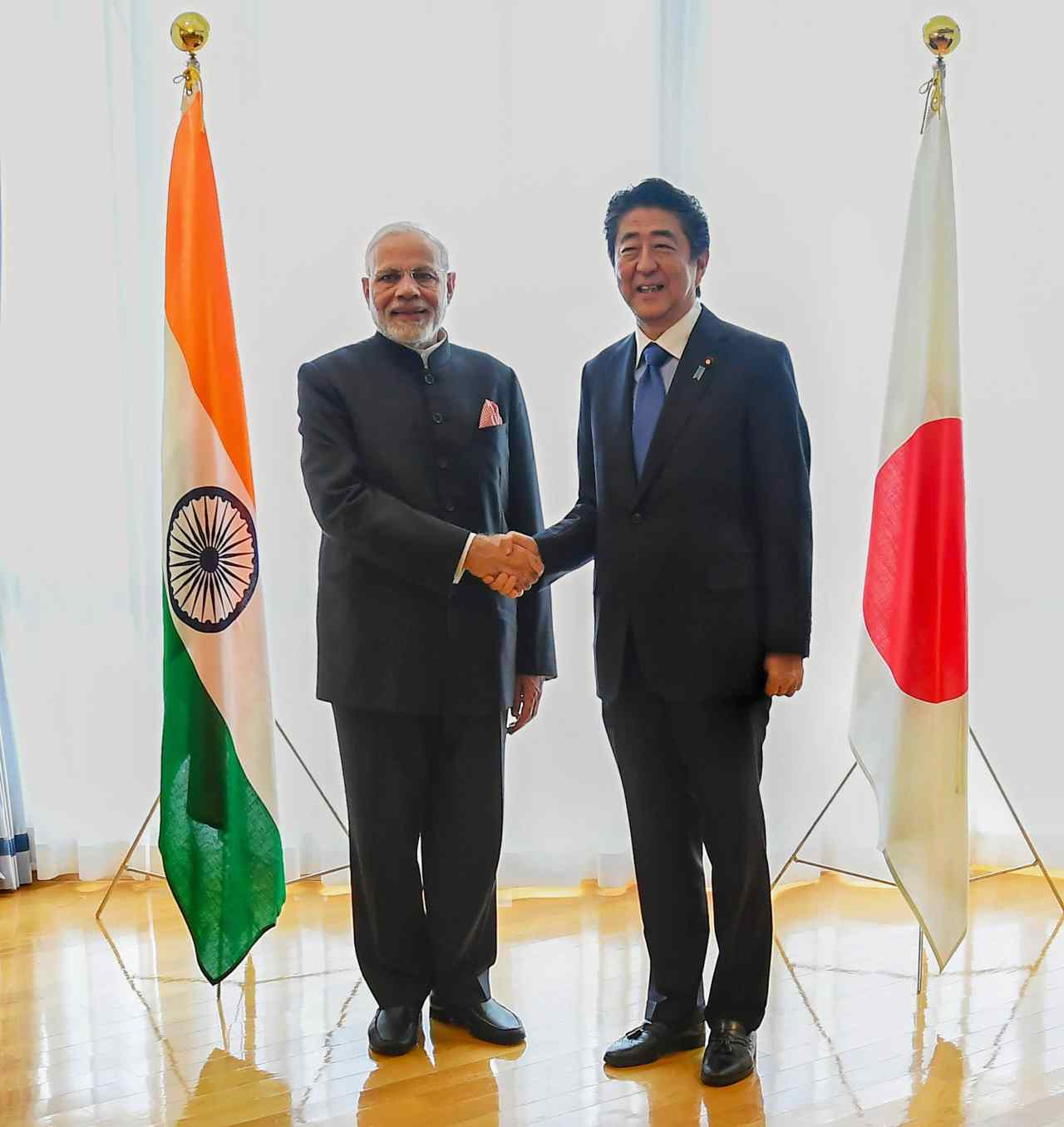 "Prime Minister Narendra Modi was on a two-day visit to Japan for the 13th India-Japan annual summit. It was Modi's 12th meeting with counterpart Shinzo Abe since he first visited the island nation as Prime Minister in September 2014. Before leaving for Japan, Modi hailed the country as New Delhi's most trusted partner in its economic and technological modernisation. He described the partnership between the two countries as a ""winning combination"". (Image: PTI)"