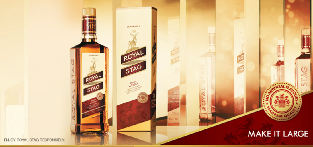 8. Royal Stag | Sales volume: 18.7 million | Type of alcohol: Whisky | Country of origin: India | Average alcohol content: 42.8% (Image: Pernod Ricard)