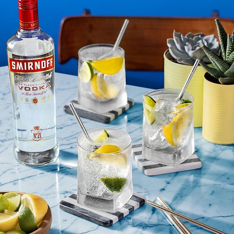 5. Smirnoff | Sales volume: 26.0 million | Type of alcohol: Vodka | Country of origin: Russia | Average alcohol content: 37.5% (Image: Smirnoff )