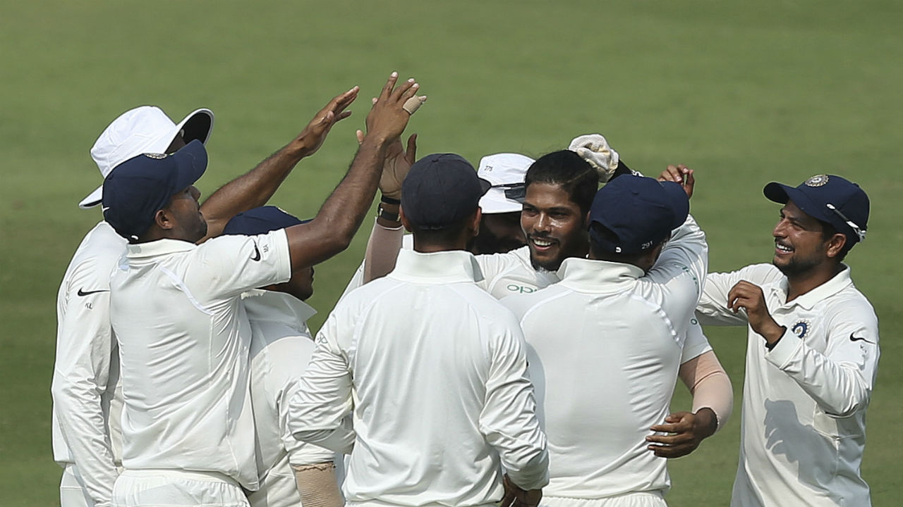 Thanks to the bowling unit Windies were skittled out on 127, with India needing 72 runs to win. (Image: AP)