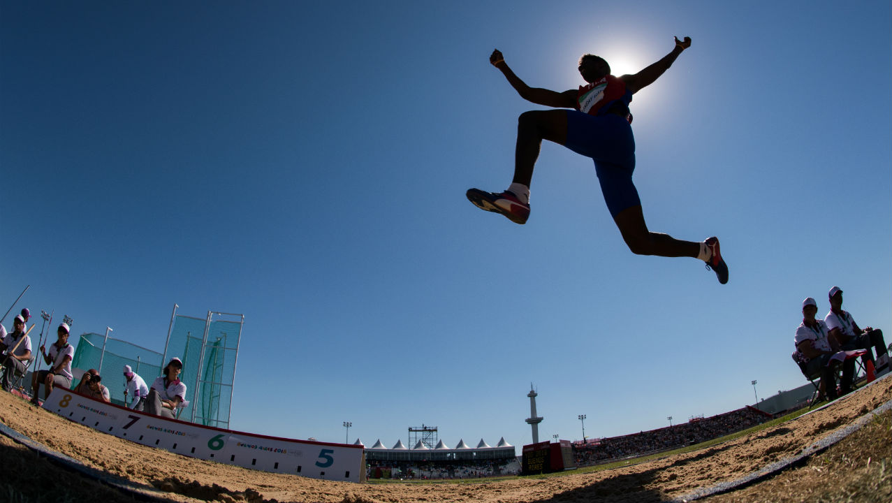 Praveen Chitravel | Bronze (Men's Triple Jump) | Praveen Chitravel finished with a combined total of 31.52m to bag the bronze medal. He finished Stage 1 in third place with a best jump of 15.84m and cleared a distance of 15.68m in Stage 2. Alejandro Diaz of Cuba won the gold with a combined effort of 34.18m. (Image: Reuters - for representational purposes only)