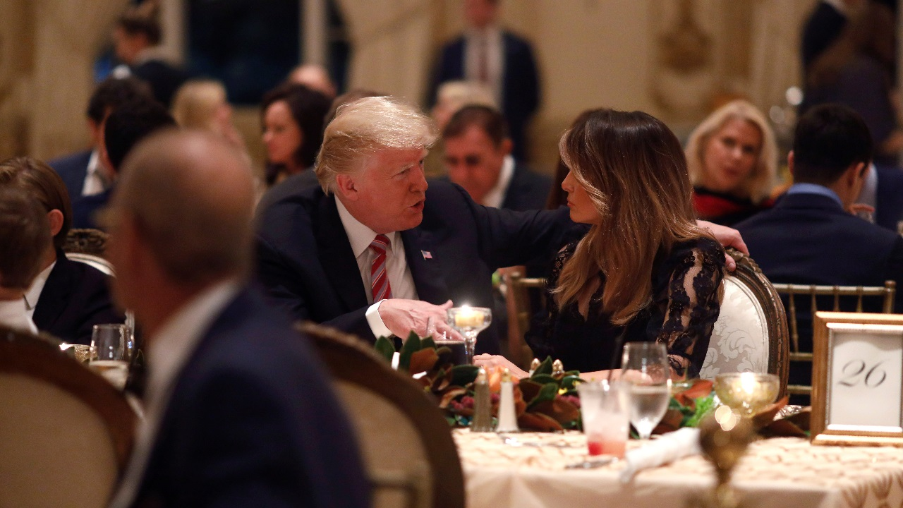President Donald Trump and first lady Melania Trump have Thanksgiving Day dinner at their Mar-a-Lago estate in Palm Beach. (Image: AP/PTI)