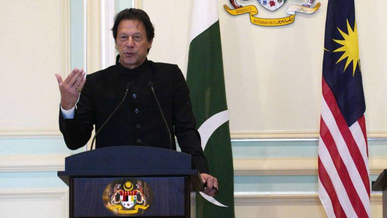 Pakistan's Prime Minister Imran Khan speaks during a press conference in Putrajaya, Malaysia. (AP/PTI)