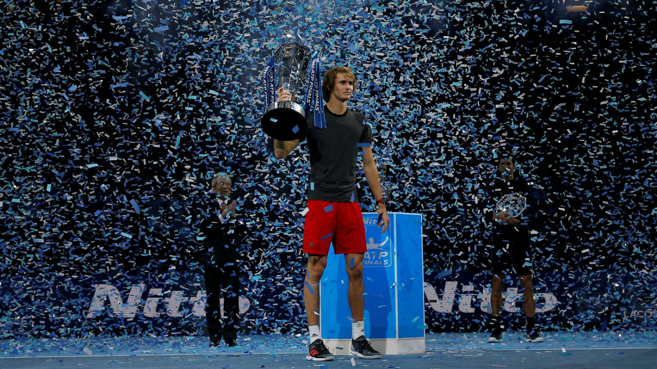 Germany's Alexander Zverev became only the fourth player to beat Roger Federer and Novak Djokovic back-to-back in the semi-final and final of the same tournament as he won the ATP Finals in London. The German stunned the in-form Djokovic 6-4, 6-3 in the finals. (Image: Reuters)