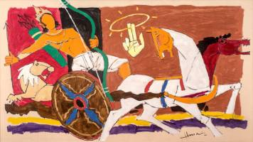 MF Husain's unseen works to be auctioned online by Artiana in December