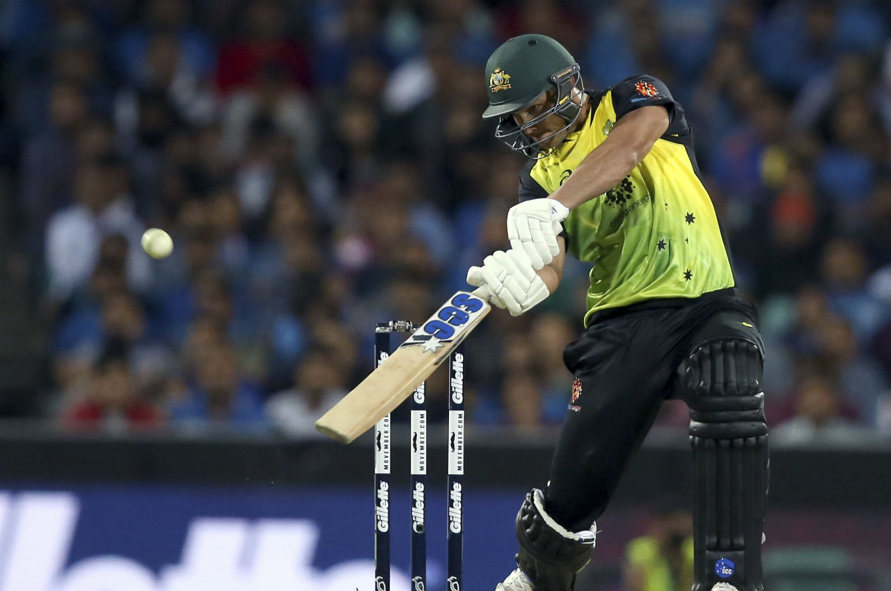 The rear guard action from all rounders Nathan Coulter-Nile and Marcus Stoinis helped Australia finish with a score of 164/6 in 20 Overs. (Image: AP)