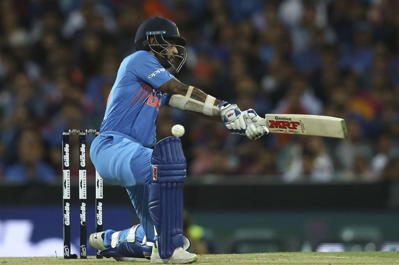 India was off to a flying start thanks to the blitzkrieg by its openers Shikhar Dhawan and Rohit Sharma. The duo engineered a 67-run opening partnership to put India in command. (Image: AP)