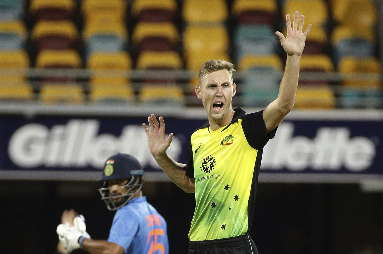Lanky paceman Billy Stanlake removed Dhawan as he got the southpaw caught by Jason Bherendorff at boundary. Dhawan made 76 off 42 deliveries hitting 10 fours and 2 sixes. (Image: AP)