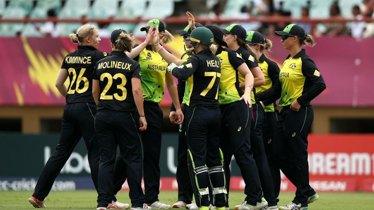 Australia started the match on right note as they picked up the wickets of Taniya Bhatia and Jemimah Rodrigues inside 7 overs to reduce India to 49/2. Ashleigh Gardner picked up the wicket of Bhatia and Megan Schutt sent back Rodrigues. (Image: www.icc-cricket.com)