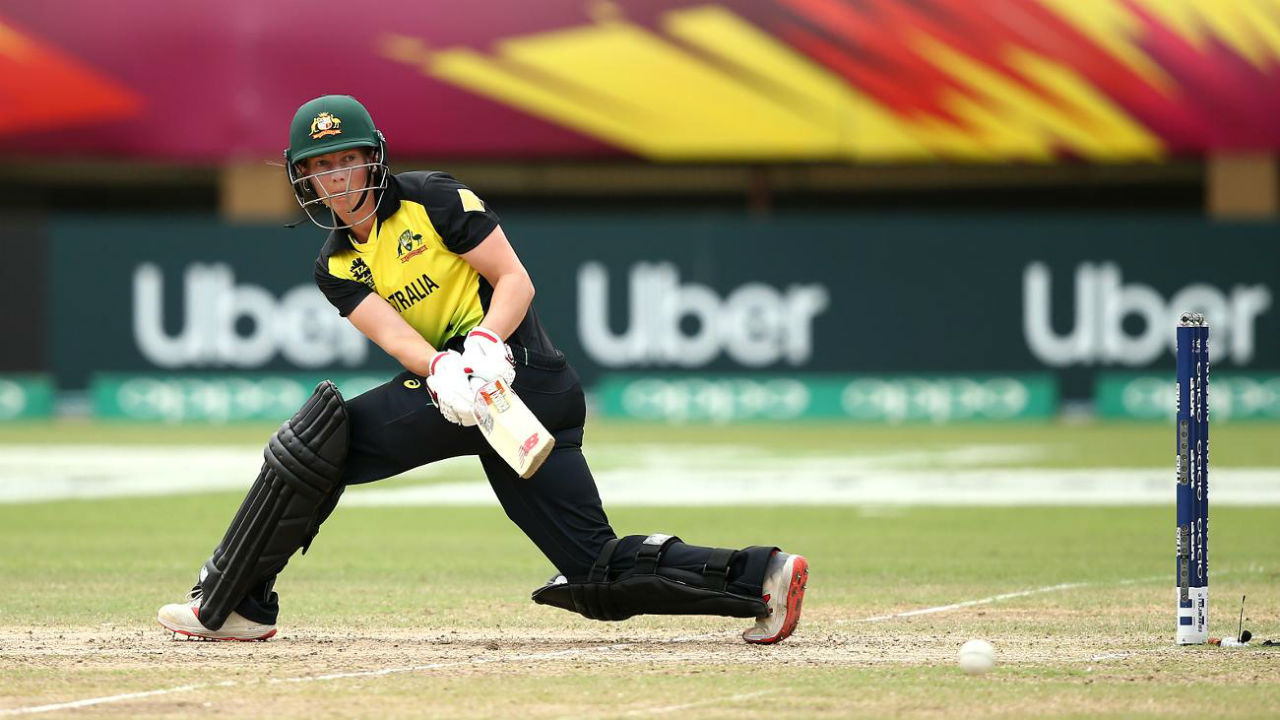 Australian captain Meg Lanning could only make 10 runs during the chase before being dismissed by Radha. Other significant contributions came from the bats of Beth Mooney (10), Ashleigh Gardner (20), and Ellyse Perry (39*). The Indian spinners proved to be a big headache for the Aussies as the team capitulated on 199 in 19.4 overs thus handing over India a victory by 48 runs. (Image: www.icc-cricket.com)
