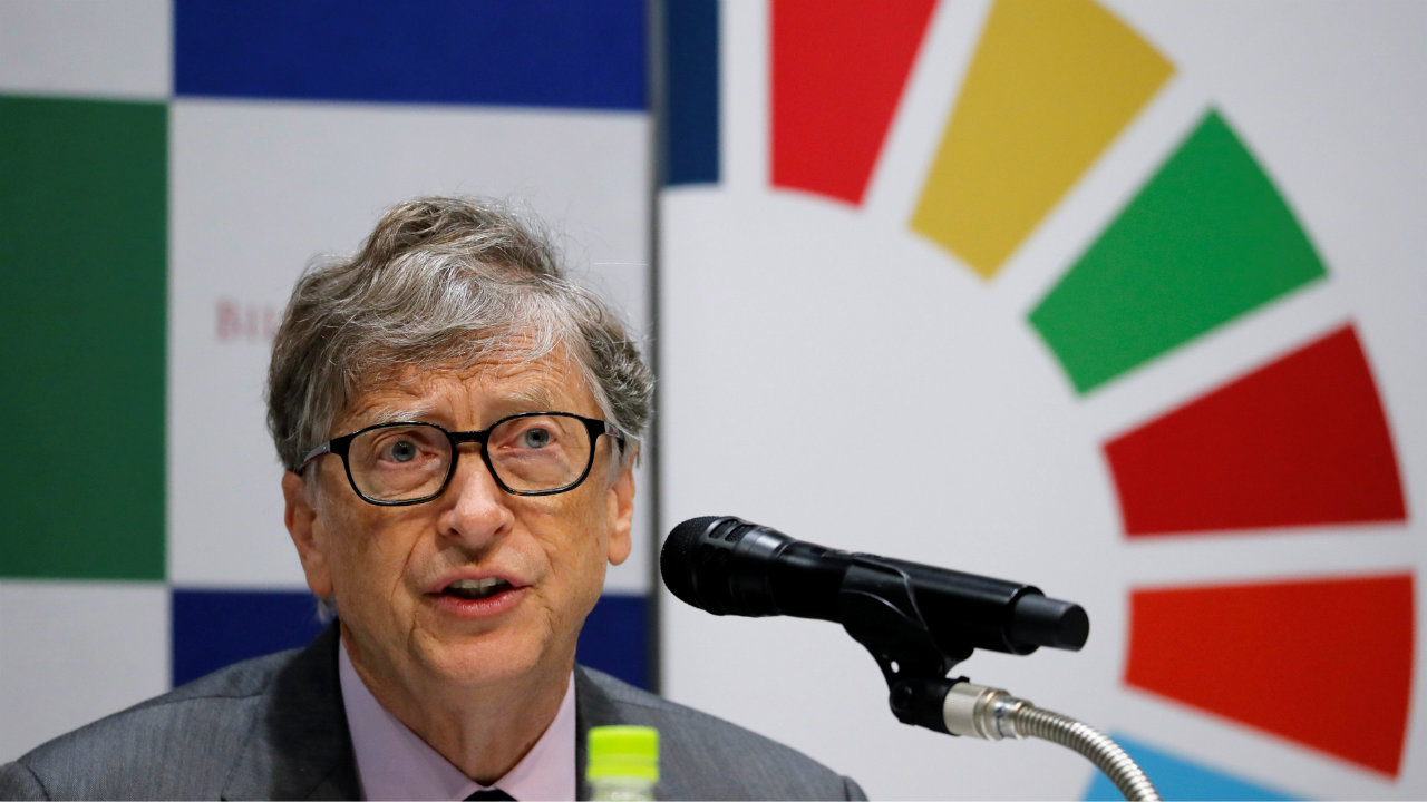 Bill Gates, co-chair of the Bill & Melinda Gates Foundation, attends a news conference as the foundation teams up with the Japan Sports Agency and Tokyo 2020 to promote the Sustainable Development Goals in conjunction with the Olympics, in Tokyo, Japan. (Image: Reuters)