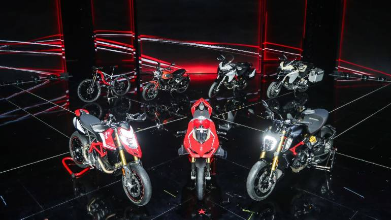 Ducati showcases new range of motorcycles for 2019