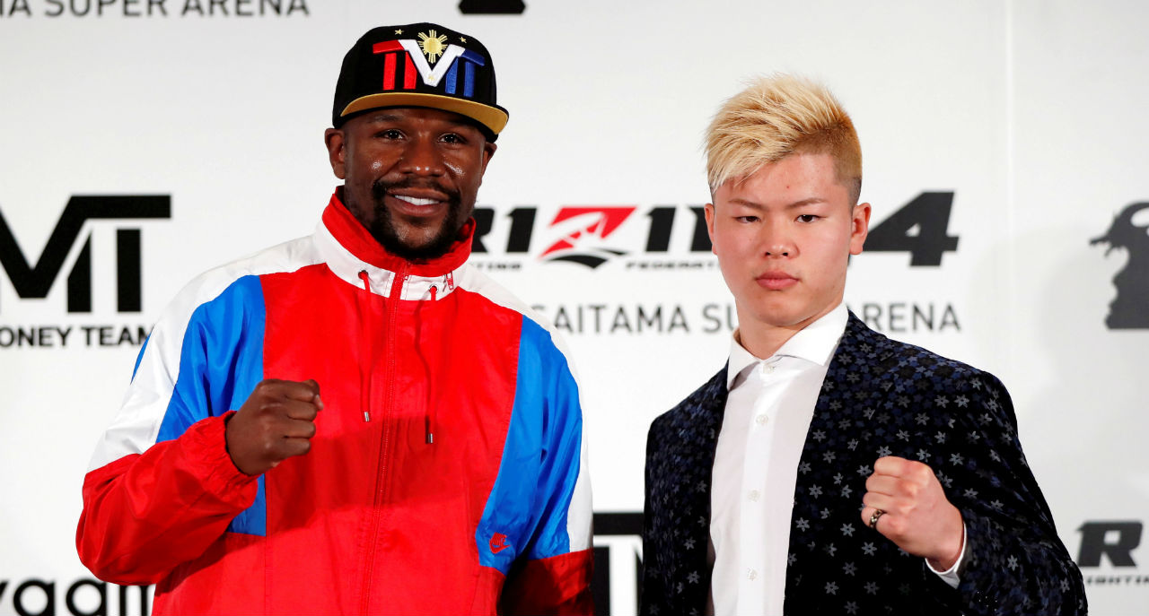 "Floyd Mayweather backs out (Boxing/MMA) | Floyd Mayweather has backed out from a planned New Year's Eve fight with Japanese kickboxing star Tenshin Nasukawa less than three days after he appeared at a Tokyo press conference announcing the bout, claiming he was ""blindsided"" by the promoter regarding the nature and magnitude of the event. (Image: Reuters)"