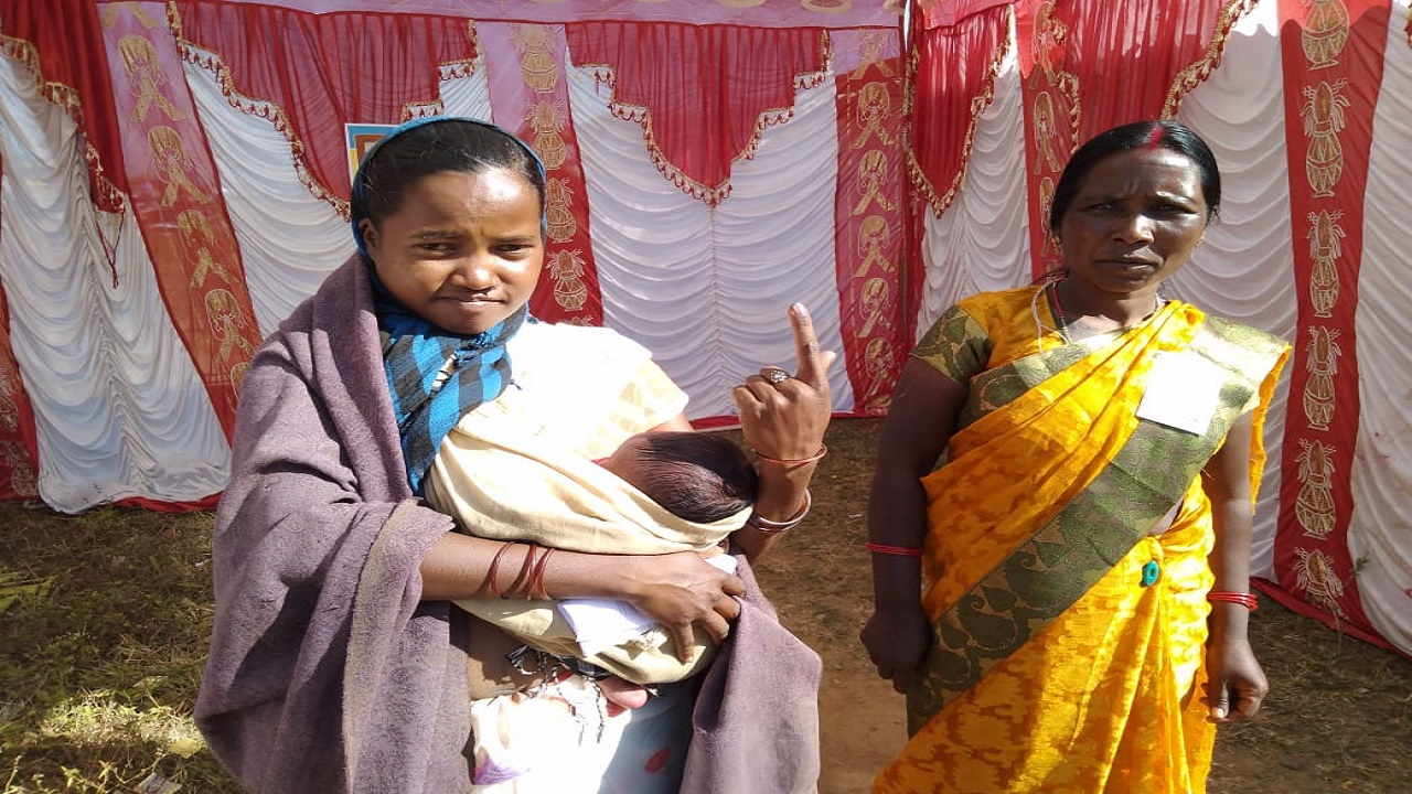 In Pics | Chhattisgarh Assembly Polls 2018: 23.71% voter turnout recorded till 12 pm