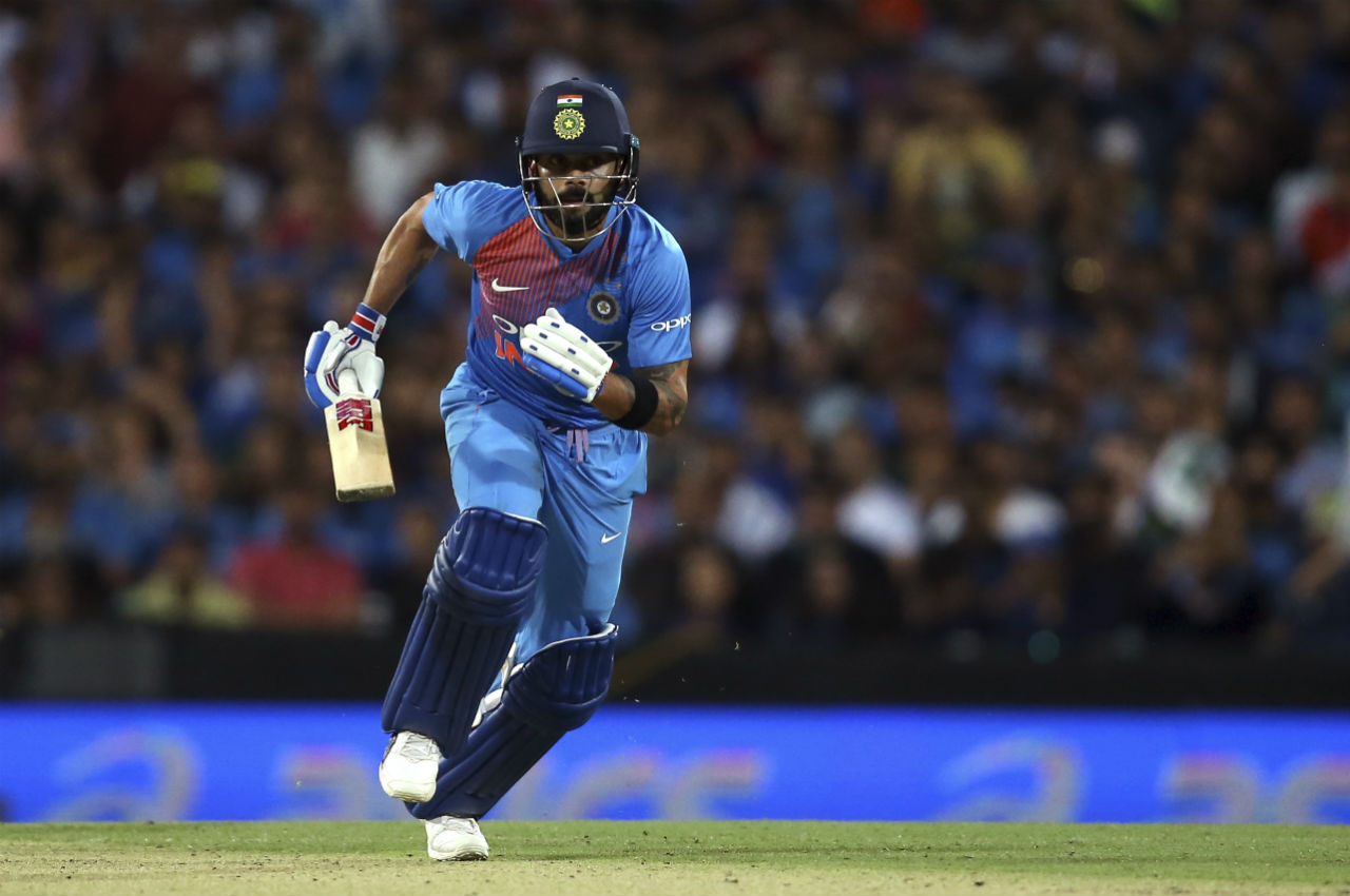 As wickets fell at the other end Virat Kohli kept scoring runs to take India closer to the target. He was supported by Dinesh Karthik as the to put on a 60-run partnership to rest the imitative back with India. (Image: AP)