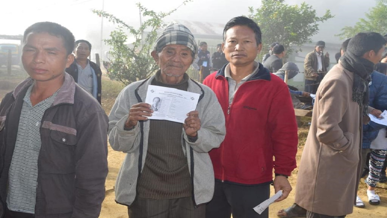 Over 15 percent voting has been recorded in the state till 9.00 am. (Image: AIR News Aizawl)