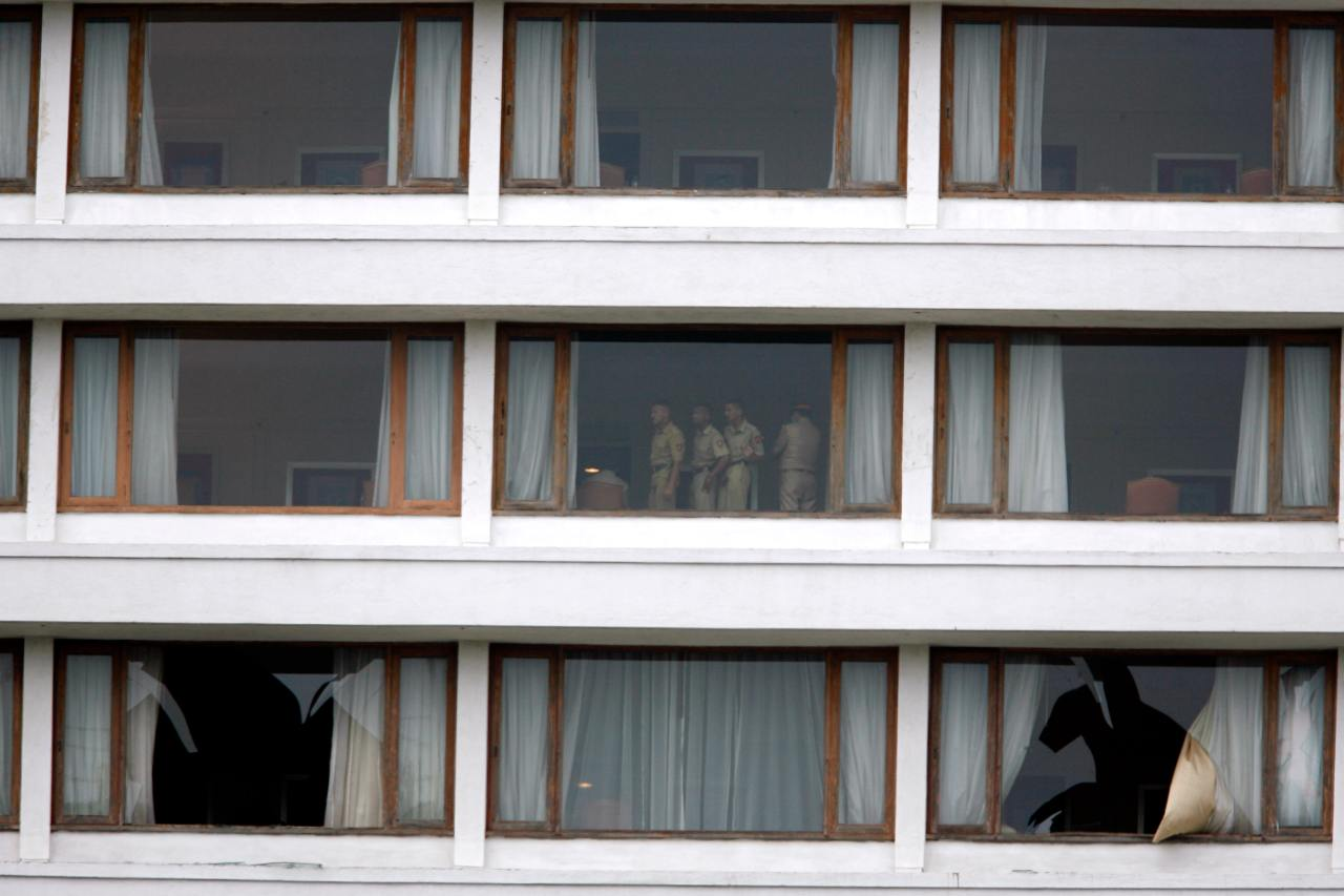 Policemen are seen in the besieged Trident-Oberoi Hotel in Mumbai on November 28. (Image: Reuters)
