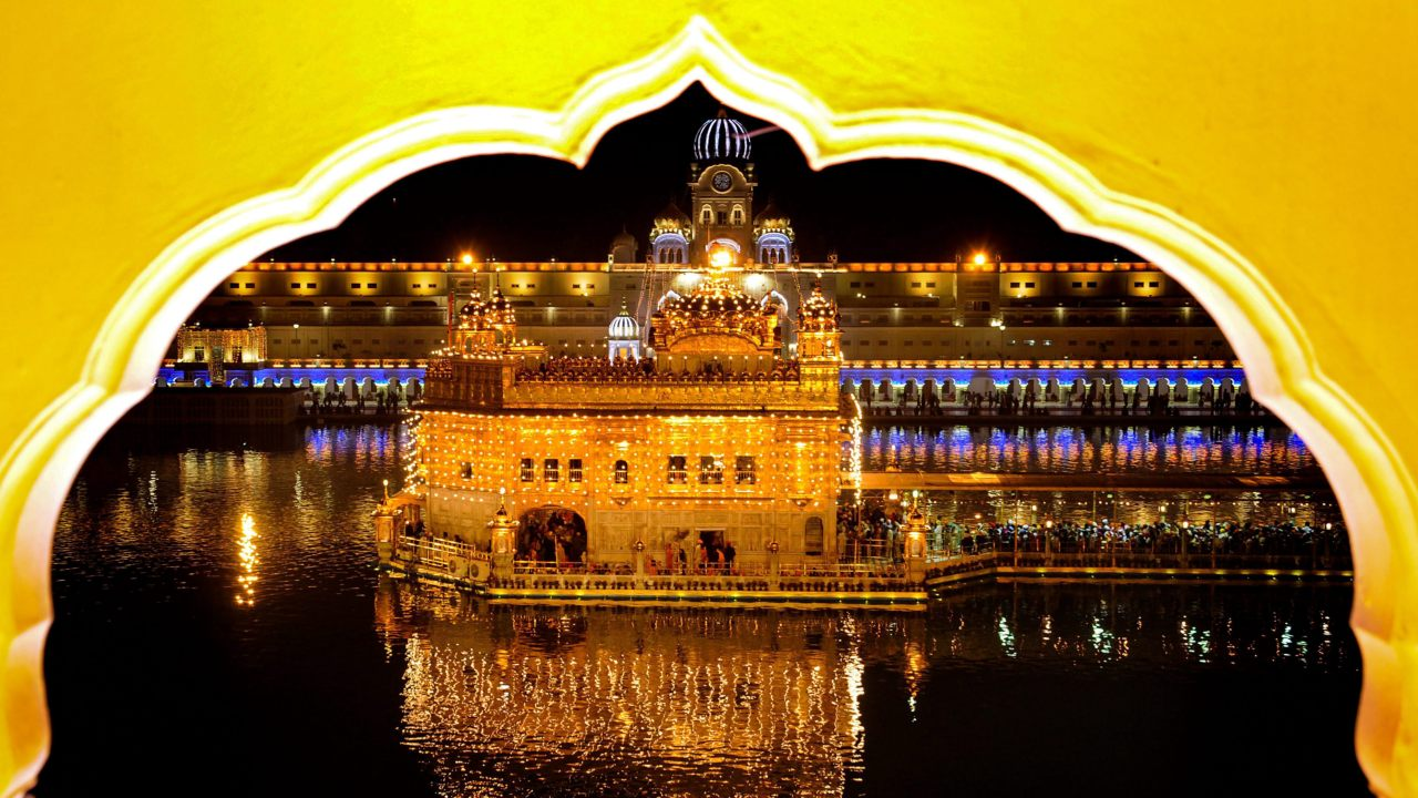 A view of the Golden Temple illuminated on the eve of Diwali festival in Amritsar. (Image: PTI)