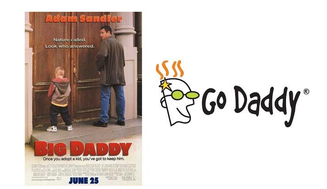 Answer: Go Daddy. CEO Bob Parsons wanted to call it Big Daddy, but realized that the domain name was taken by the Adam Sandler movie of the same name.
