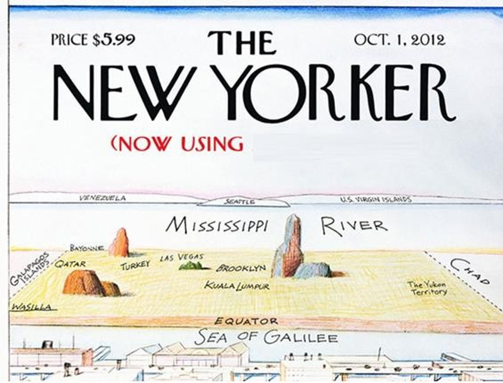 Q19. The October 2012 cover of Mad Magazine satirised famous 'View of the World' cover of The New Yorker to parody what?