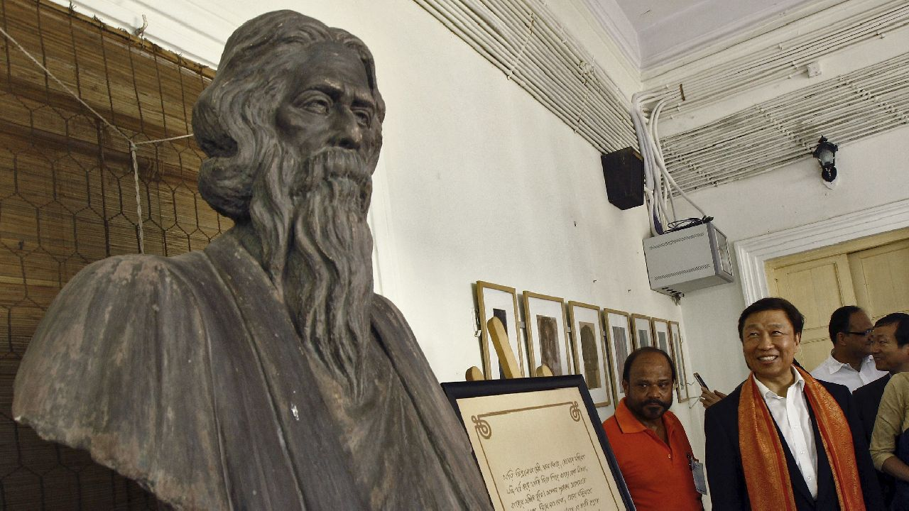 "Q1. Inspired by the name of the posthumous compilation of Tagore's political treatises, which product's final edition was published on October 31 owing to ""acute resource and financial crunch""? (Image source: Reuters)"