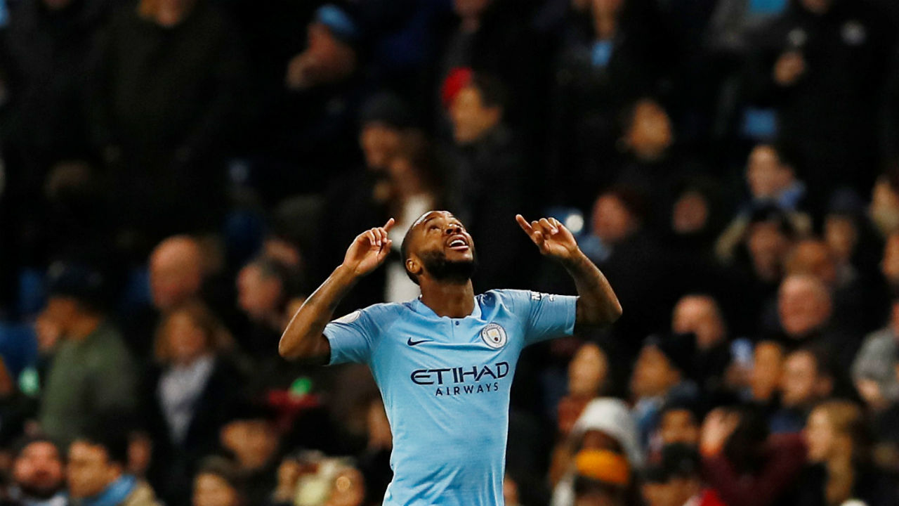 Raheem Sterling (Manchester City ) | Goals scored - 8| Assists - 6| Minutes played - 1116 | Minutes per goal - 140 (Image: Reuters)